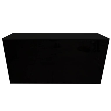 Black Acrylic Food Station Black