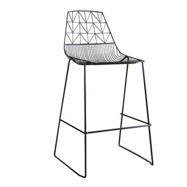Arrow Bar Stool Stackable  Black