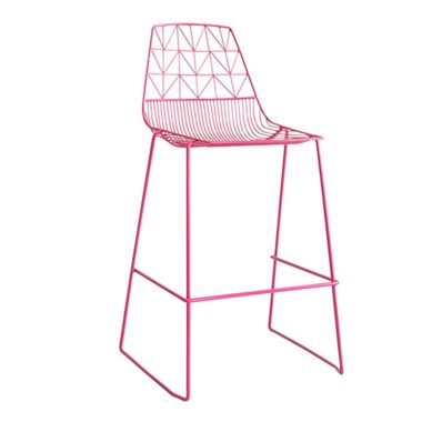 Arrow Bar Stool Stackable  Hot Pink