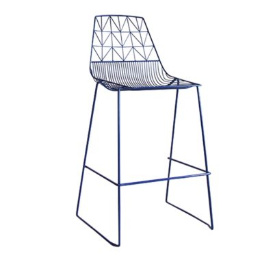 Arrow Bar Stool Stackable  Navy
