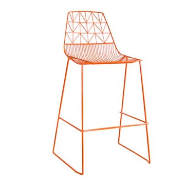 Arrow Bar Stool Stackable  Orange