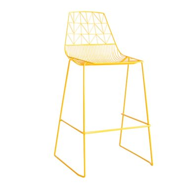 Arrow Bar Stool Stackable  Mustard Yellow