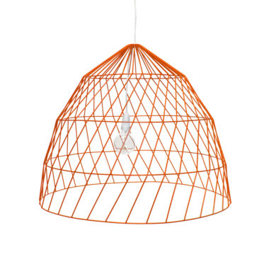Arrow Light Fitting Large Orange