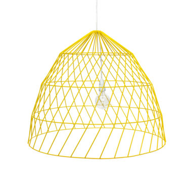 Arrow Light Fitting Large Yellow