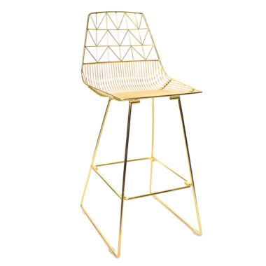 Arrow Bar Stool Gold
