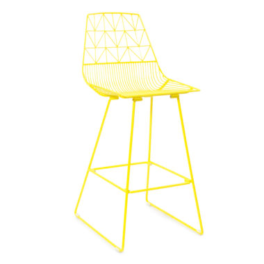 Arrow Bar Stool Yellow
