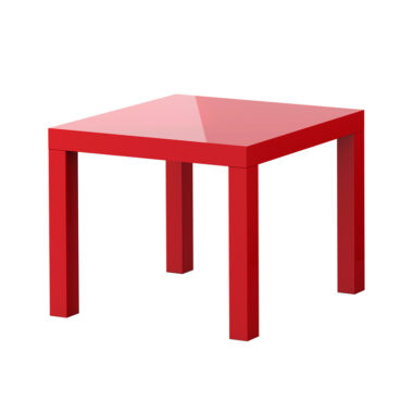 Coffee Table Square Red