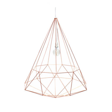 Diamond Light Fitting Large Copper