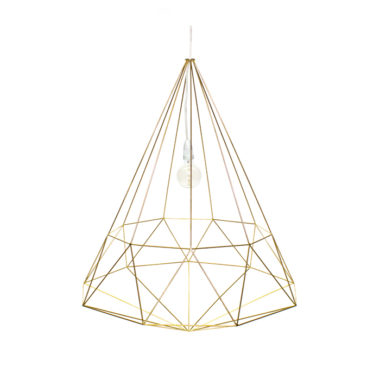 Diamond Light Fitting Large Gold
