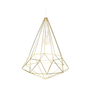 Diamond Light Fitting Small Gold