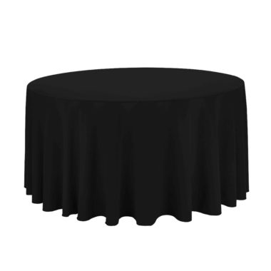 Black Tablecloth 10 ft round