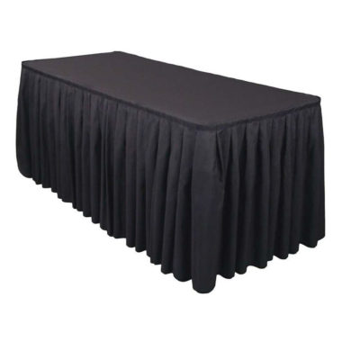 Table Skirt Black 4.1m